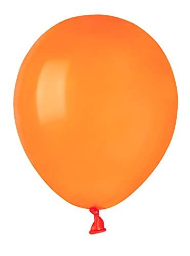 Ciao Busta 100 palloncini in lattice naturale Premium Quality A50 (Ø 13cm / 5'), arancione