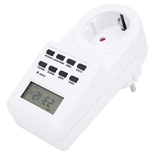 Interruptor de salida Enchufe de alimentación Temporizador de salida digital Enchufe de la UE Interruptor de control de tiempo eléctrico multimodal de 230 V para control de equipos