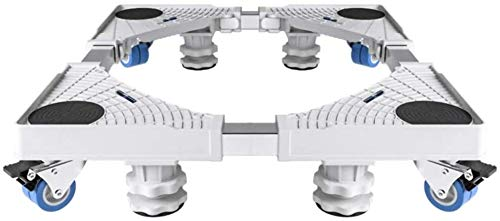 para Silla Oficina Multifuncional movible Entre Ejes Base Ajustable con 4 plástico Grupo 4 Ruedas for Titular Nevera Lavadora etc. Rango de Carga: Acerca de 500KG