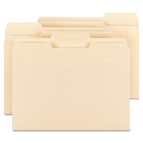 """Big River Value Plus File Folders, 1/3-Cut Tab, Assorted Position, Letter Size (11-5/8"""" W x 9-1/2"""" H), Manila, File Folder, (Box of 200). Perfect for Everyday use, in Home or Office."""