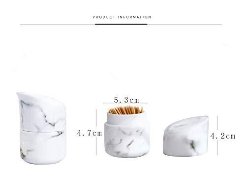 Tandenstokers blikjes Chinese Stijl Mode Retro Flip Cover Eettafel Keramisch Marmer Patroon Tandenstoker Houder
