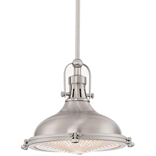 Kira Home Beacon 11' Industrial Farmhouse Pendant Light with Round Fresnel Glass...