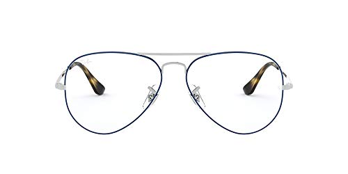 Ray-Ban 0RX 6489 2970 58 Montature, Argento (Silver On Top Blue), Unisex-Adulto