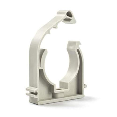 25 x Rohrclips Einfach 63mm Rohrbefestigung Rohrschelle Rohrhalter Clip