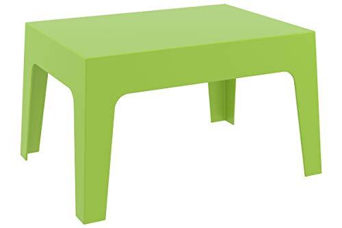 CLP Mesa De Exterior Box En Polipropileno I Mesa Auxiliar De Jardín I Mesa De Terraza Resistente a Rayos UV I Mesa De Jardín Apilable I Color: Verde