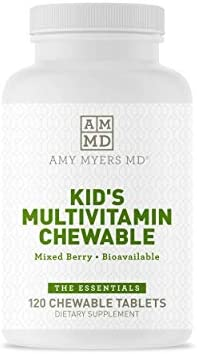 Dr Amy Myers Multivitamin Chewable for Optimal Health Activated B Vitamins Zinc Selenium Iodine product image