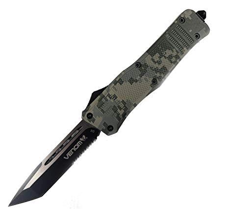 VTK 3TR Combat Tactical Knife - Top Performance 2021 - D2 Tanto Partial Serrated Blade - USA
