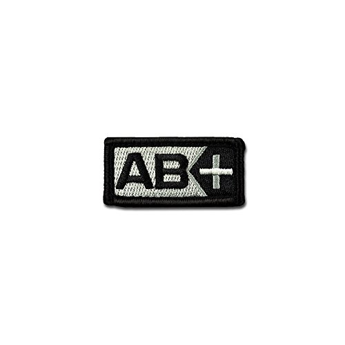 BASTION Morale Patches (Blood Type AB Pos, BNW) | 3D Embroidered Patches with Hook & Loop Fastener Backing | Well-Made Clean Stitching | Military Patches for Tactical Bag, Hats & Vest