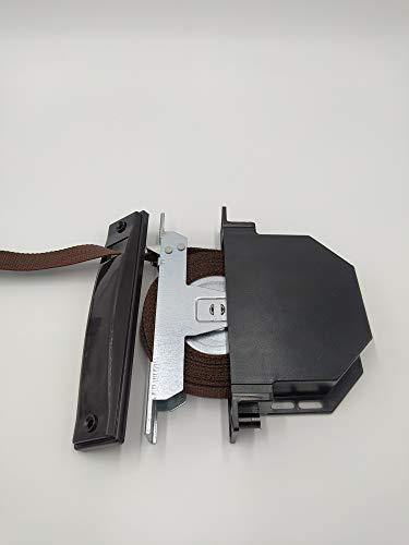 Recogedor de empotrar en guía con cinta de 18mm (Marrón)