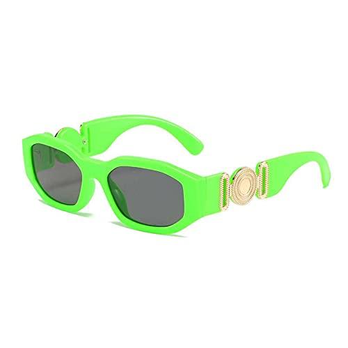AMFG Retro Gafas De Sol Poligonal Personalidad Pequeño Marco Playa Glasses Street Shooting Outdoor Business Gafas (Color : E, Size : M)