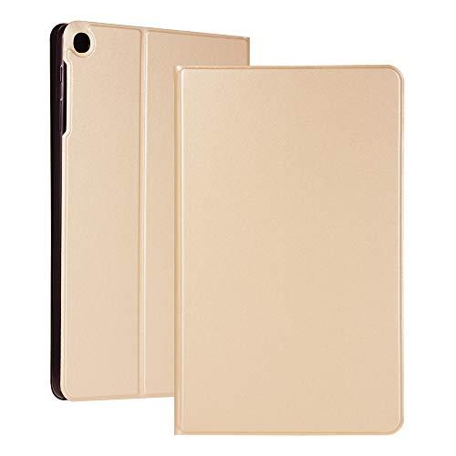 Capa Ffish para Samsung Galaxy Tab A 10.1 2019, ultrafina, leve, suporte, Smart Folio para Tablet SM-T510/SM-T515, Dourado
