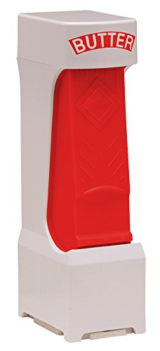 """Inventions for Market One Click Stick Butter Cutter with Stainless Steel Blade Fits standard 1/4 lb. bars that are about 5"""" long (Red)"""