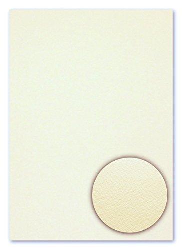 100 Blatt DIN A4 Fauna beidseitig filzmarkiert Creme Strukturpapier Feinstpapier Briefpapier mit einseitig geprägter Oberflächenstruktur (FPA-9008)