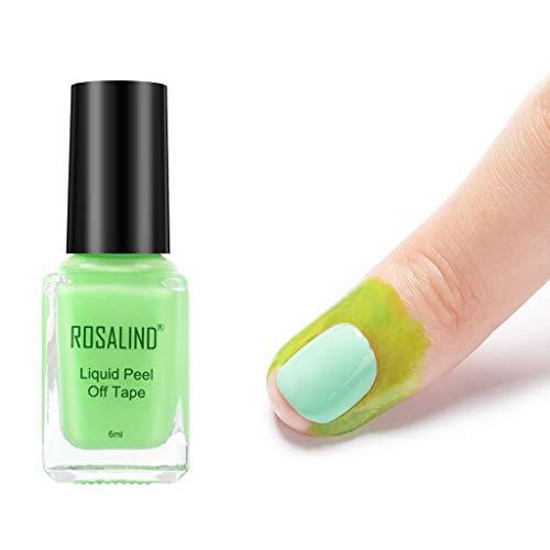 lijun 6ML Anti-desbordamiento Pegamento Protección de Borde de uñas Gel Nail Latex Peel Off Cinta líquida