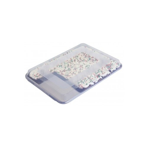 Focus Foodservice 90PSPCFL Clear Plastic Cover for Full Size Sheet Pans, 26' x 18' x 2', Snap On