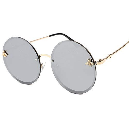 FGSHA Gafas Sol Mujer,Moda Mujer Poco Abeja Sin Cerco Redondo Gafas De...
