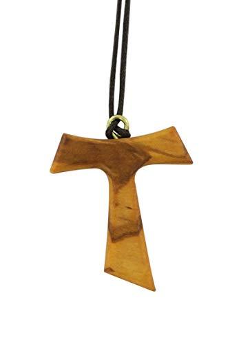 Tau in legno di ulivo, ( 50 pezzi ) croce di San Francesco d'Assisi 4 cm
