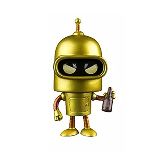 naiping Futurama Pop Figure Bender [Gold] Chibi Vinly PVC Decor Collector's Item