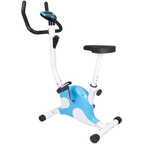 SAFGH Bicicleta giratoria Bicicleta estática para Interiores Ultra silenciosa Máquina de Cardio con cinturón Bicicleta Vertical Ejercicio en casa 220 Libras Peso máximo (Color: Azul Rosa) 🔥