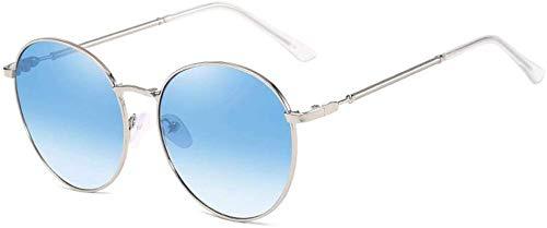 Unisex Superlight gepolariseerde zonnebril, gekleurde spiegel lens 100% UV-bescherming zonnebril (kleur: blauw, maat: casual size)
