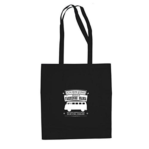 Planet Nerd Ich bin eine Bulli fahrende Mama - Stofftasche/Beutel, Farbe: schwarz