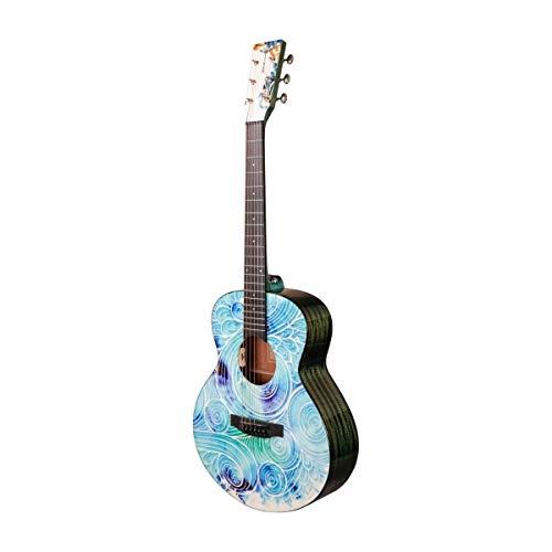 Tyma V-3E Mini Spindrift - Guitarra de viaje (cuerdas de...