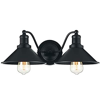 2?Light Vanity Light Wall Sconce Industrial Kitchen Bathroom Wall Lighting Oil Rubbed Black Finish