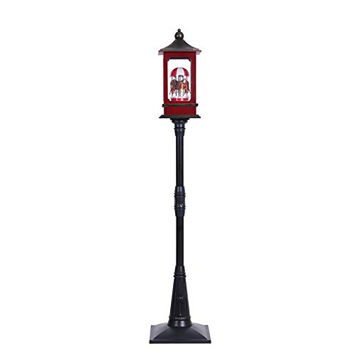 SSBH 190cm Christmas Decorations Retro Snowy Street Light Classical Street Lamp in Living Room Post Street Lamp, Outdoor Yard Decor Mall Hotel Bar Christmas Decoration Supplies (Color : C)