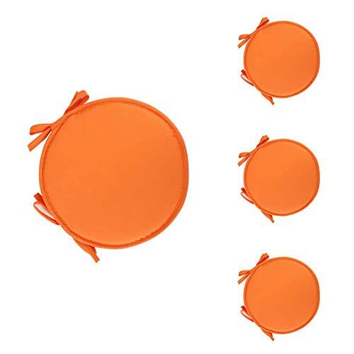 Ynnixa Set van 4 Stoel Pads Rond Kussen Eetstoel Kussen Tuinstoel Kussen Stoel