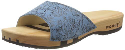 Woody Damen Heidi Pantoletten, Blau (Capri 084), 37 EU