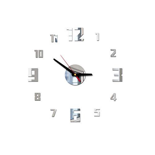 Wanduhr Wanduhr Batteriebetriebenes Nicht tickendes klassisches modernes Schlafzimmer Küche Wohnzimmer-Pfau Wanduhr Retro Wanduhr Runde Quarzwanduhr,Size:40cm*40cm
