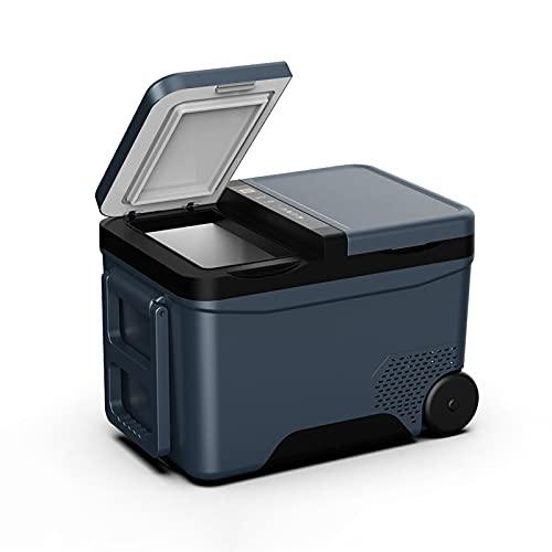 JUNKUN Refrigerador para automóvil Mini refrigerador de 12/24 V Que se Puede congelar, Nevera eléctrica Caja de enfriamiento, Grande 12/24 V para Bebidas, Vino, mariscos, hogar y Viajes