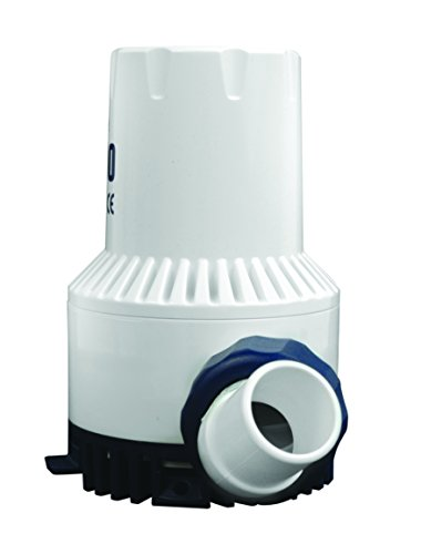 attwood 4730-4 Heavy Duty 1,700 GPH Fully Submersible Boat Bilge Pump, White Finish