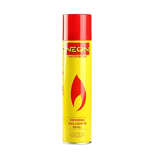 Neon Lighter Gas Refill Butane Universal Fluid Fuel Ultra Refined...