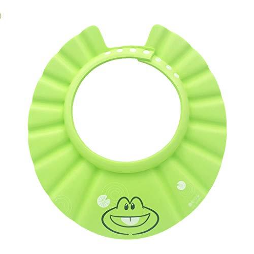 Bébé Shampooing Cap Étanche Oreillettes Shampooing Artifact Étanche Bonnet De Douche Enfant Shampooing Cap Imperméable (Couleur : Green)