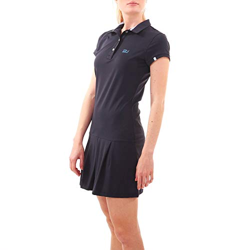 Sportkind Mädchen & Damen Tennis, Hockey, Golf Polokleid mit UV-Schutz, Kurzarm, Navy blau, Gr. 134