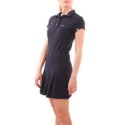 Sportkind Mädchen & Damen Tennis, Hockey, Golf Polokleid mit UV-Schutz, Kurzarm, Navy blau, Gr. 164