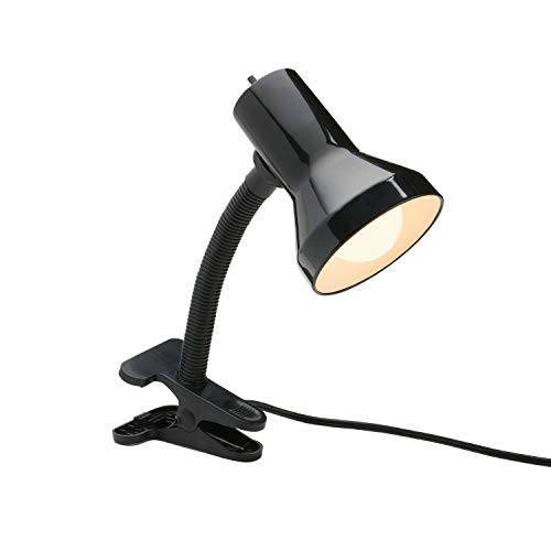 powerful Xtricity table lamp with clamp base and adjustable gooseneck, 7W LED A19 lamp included, 120V, …