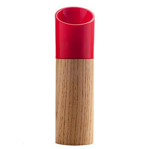 Als fles food distributeur Specerijen, zwarte peper poeder mill pepermolen handleiding fles Creative Houten peper zeezout kruiden pot specerij fles slijpen,rood
