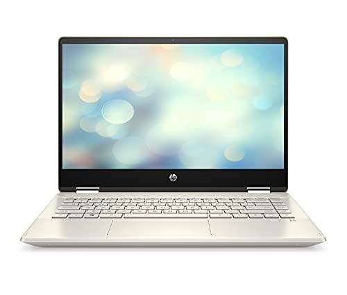 HP Pavilion x360 10th Gen Intel Core i3 Touchscreen 2-in-1 14-inch(35.6 cm) FHD Laptop (8GB/512GB SSD/Windows 10/MS Office/Warm Gold/1.58 kg), 14-dh1502TU