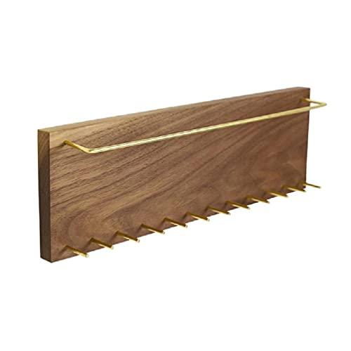 tiantianchaye Pendiente pulsera collar colgante titular montado en la pared joyería organizador exhibición madera estante percha