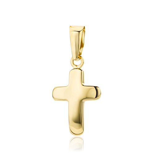 Miore Anhänger Gelbgold 14 Karat / 585 Gold Anhänger mit Kreuz