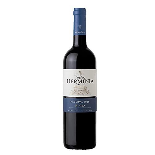 Vino Tinto Viña Herminia Reserva 2015 de 75 cl - D.O. Rioja - Bodegas Grupo Caballero (Pack de 1 botella)