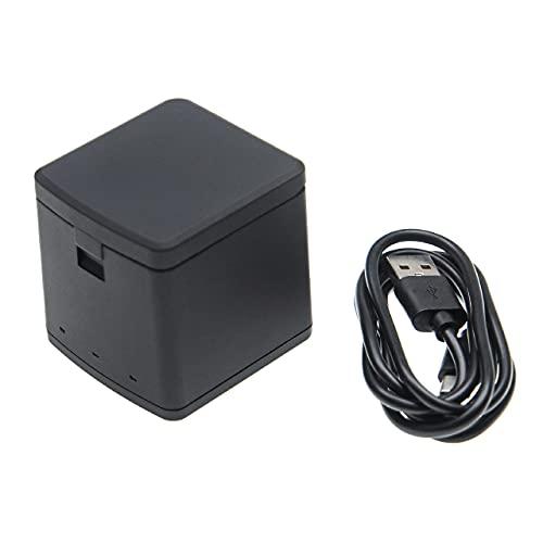 vhbw caricabatterie USB compatibile con GoPro 9 camera - Stazione di ricarica a 3 vani