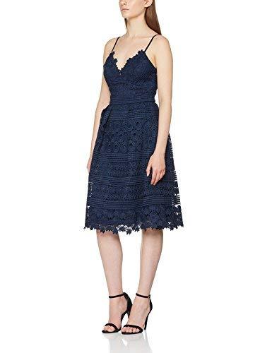 Chi Chi London Jaymie Vestito Elegante, Blu (Navy NB), 40 (Taglia Produttore: 12) Donna