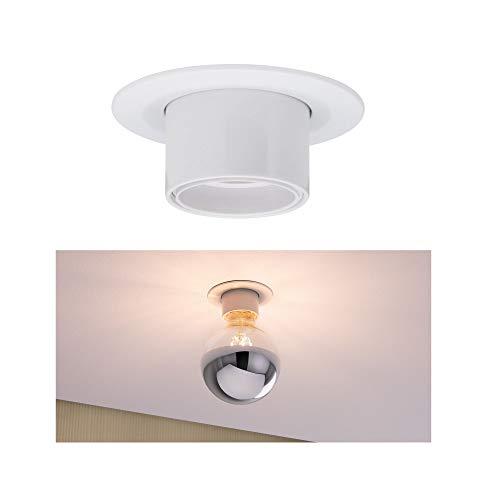 Paulmann 93668 Nova Einbauleuchte Retro rund max. 10 Watt Einbaustrahler Weiß matt Spot Alu Einbaulampe E27