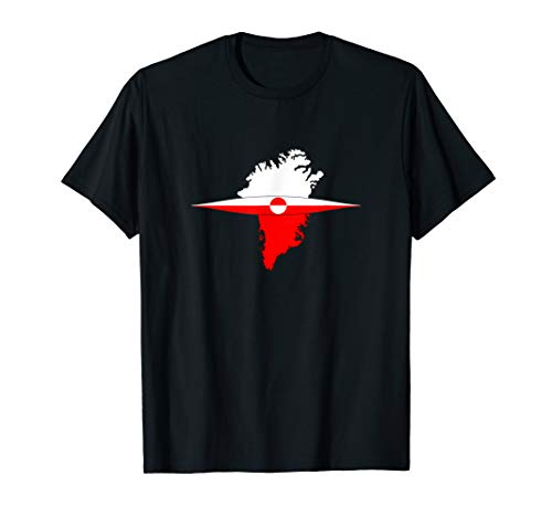 Grönland Flagge und Kajak qujaq Shirt