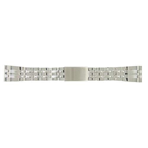 Shopkdo - Correa de reloj de acero con cierre desplegable (20 mm)