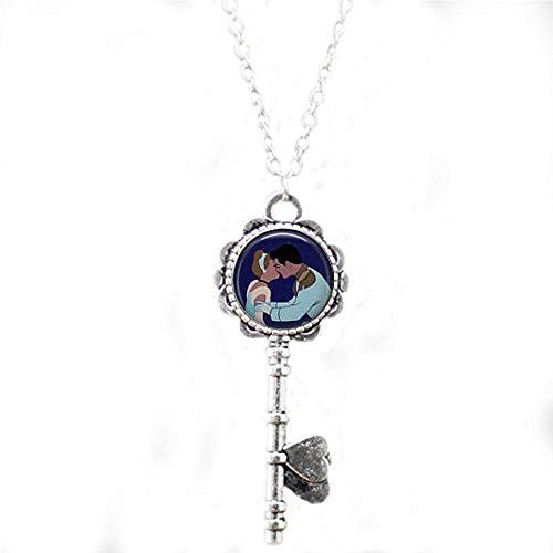bab Cinderella Kisses The Prince Schlüssel-Halskette