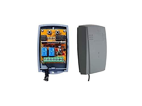 Novoferm Novotron kompatibel handsender, 2-kanal Empfänger für Novoferm 502 MAX43-2, MAX43-4, MNHS433-02, MNHS433-04, MCHS43-2, MIX43-2, NOVOTRON 512. 12-24V AC/DC, NO/NC 433.92Mhz rolling code